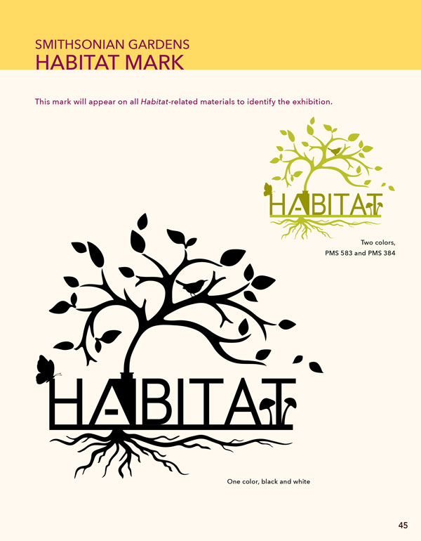 The logo for the Habitat exhibition