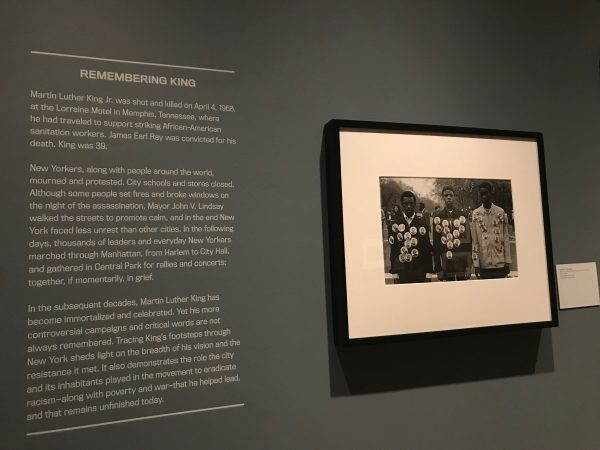 My grandfather, Benedict J. Fernandez's work on display for the 'King in New York' exhibit at The Museum of the City of New York.