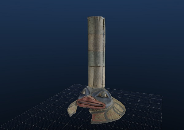 A digital 3D view of the sculpin hat