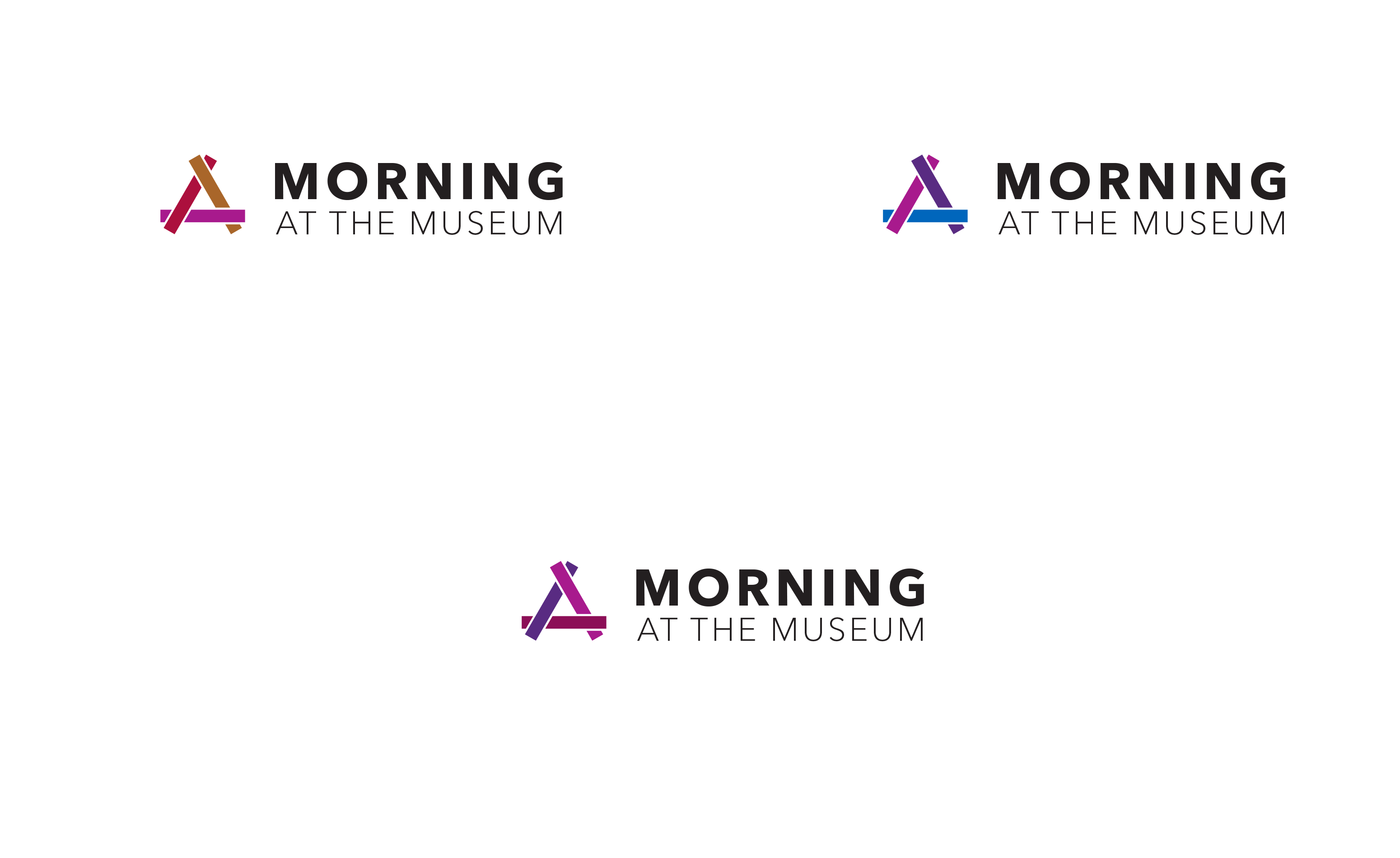 """A page showing the Smithsonian Access Logo Family: """"Morning at the Museum"""""""